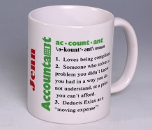 Accountant Mug<BR><span class=bluebold>(Personalize)