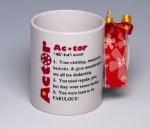 Actor Mug<BR><span class=bluebold>(Personalize)