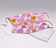 Pastel Hearts ADJUSTABLE<BR>Face Mask/FREE SHIPPING