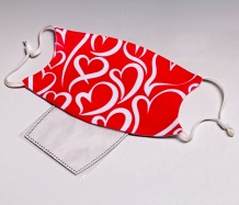Red Hearts ADJUSTABLE<BR>Face Mask<BR>FREE SHIPPING