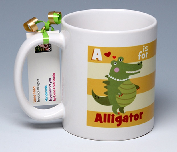 A is for Alligator<BR><span class=bluebold>(Personalize)