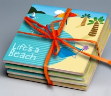 Beach Tile Coasters (Set of 4)