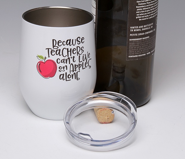 Because Teachers...<BR>Stemless Wine Glass Tumbler