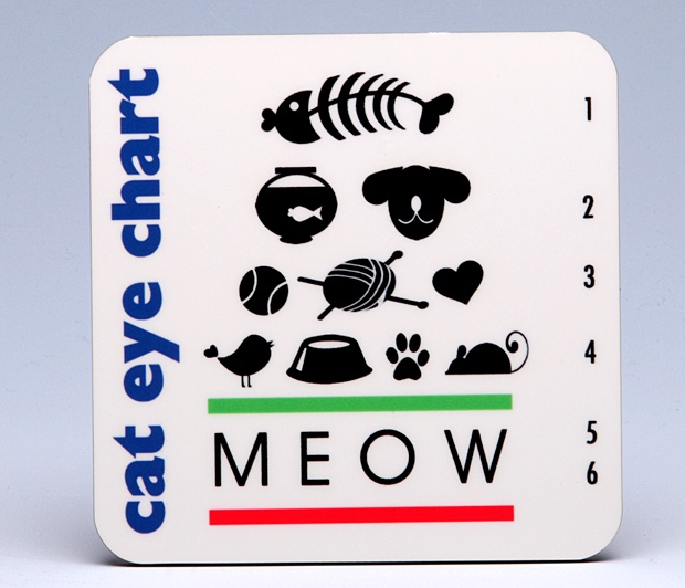 Cat Eye-Chart Coasters <BR><span class=bluebold>(Set of 4)
