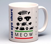 Cat Eye-Chart Mug<BR><span class=bluebold>(Personalize)