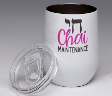 Chai Maintenance<BR>Stemless Wine Glass Tumbler