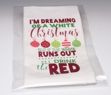 White Christmas Towel