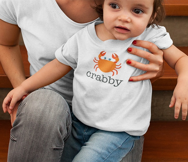 Crabby Toddler Tee