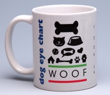 Dog Eye-Chart Mug<BR><span class=bluebold>(Personalize)