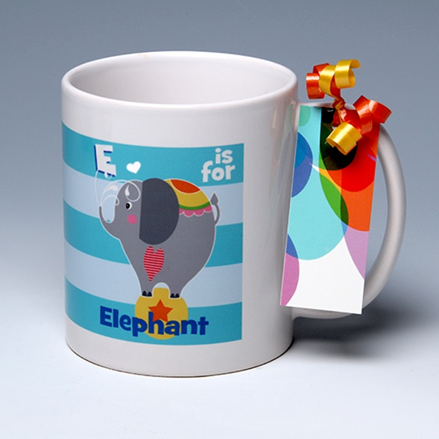 E is for Elephant<BR><span class=bluebold>(Personalize)
