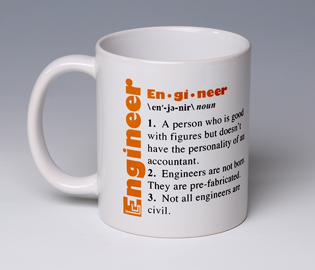 Engineer Mug<BR><span class=bluebold>(Personalize)