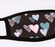 Black Hearts Face Masks<BR>FREE SHIPPING