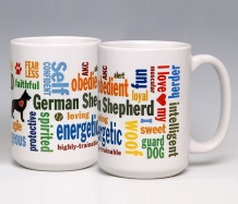 German Shepherd Mug<BR><span class=bluebold>(Personalize)