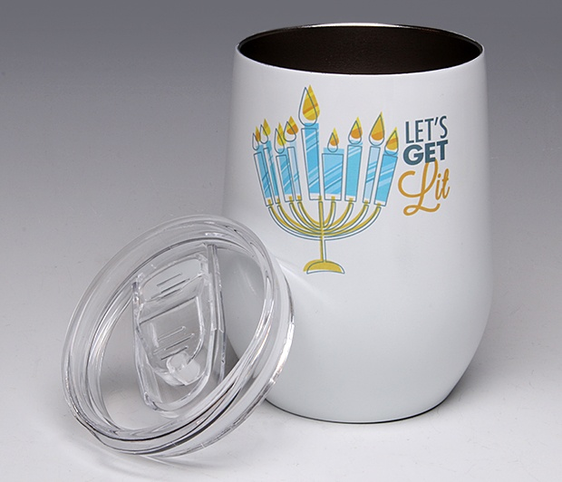 Let\'s Get Lit<BR>Stemless Wine Glass Tumbler
