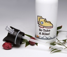 Go Take a Hike!<BR> Straw Top Water Bottle