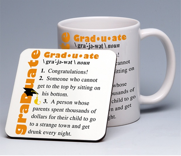Graduate Coasters <BR><span class=bluebold>(Set of 4)