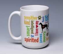 Greyhound Mug<BR><span class=bluebold>(Personalize)