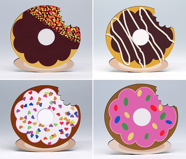 Donut Coasters (Set/4)<BR><span class=bluebold>(Personalize)