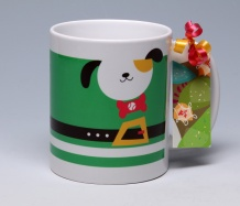 Happy Howl-idays Mug <span class=bluebold>(Personalize)