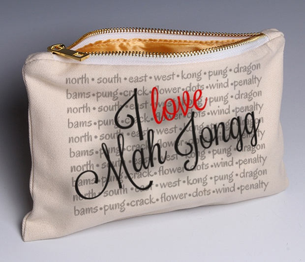 I Love Mah Jongg (Deluxe) pouch