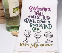 Kiss My Glass! Towel