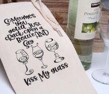 Kiss My Glass! Wine Bag
