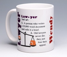 Lawyer Mug<BR><span class=bluebold>(Personalize)