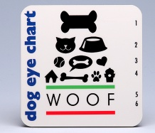 Dog Eye-Chart Coasters  <BR><span class=bluebold>(Set of 4)
