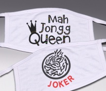 MAH JONGG Face Masks<BR>(Choice of Designs)<BR>FREE SHIPPING