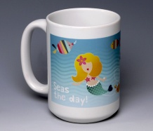 Mermaid Mug<BR><span class=bluebold>(Choice of sayings)