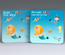 Mermaid Coasters<BR><span class=bluebold>(Set of 4)