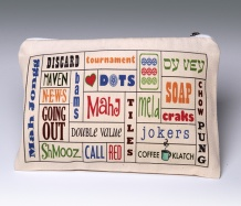 Mah Jongg Words Pouch