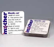 Mother Coasters<BR><span class=bluebold>(Set of 4)