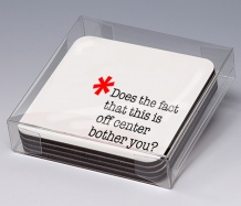 OCD Coasters/Obssesive<BR><span class=bluebold>(Set of 4)