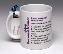 Personal Trainer Mug<BR><span class=bluebold>(Personalize)