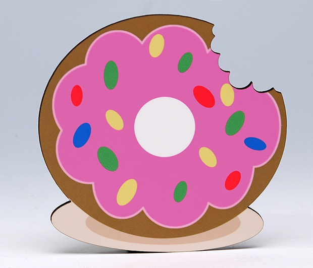 Pink Donut Coaster