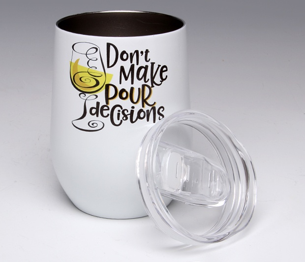 Don\'t Make Pour Decisions<BR>Stemless Wine Glass Tumbler