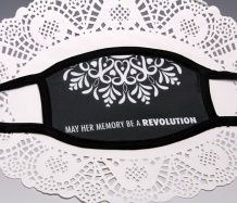 "RBG ""Revolution"" <BR>BLACK TRIM Face Mask<BR>FREE SHIPPING"