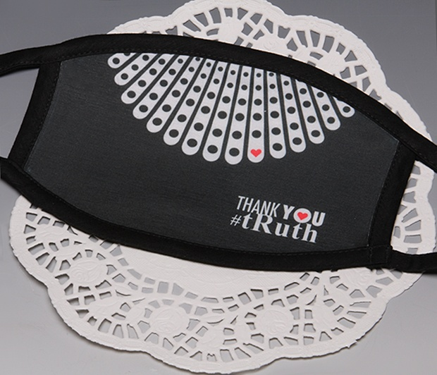 "RBG ""Thank You\"" <BR>BLACK TRIM Face Mask<BR>FREE SHIPPING"