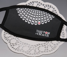 "RBG ""Thank You"" <BR>BLACK TRIM Face Mask<BR>FREE SHIPPING"