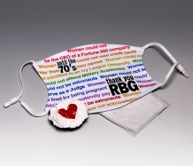 "RBG ""Words"" <BR>ADJUSTABLE Face Mask<BR>FREE SHIPPING"