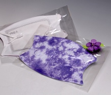 Purple ADJUSTABLE Face Masks<BR>Tie Dye<BR>FREE SHIPPING