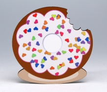 Donut Coaster/Hearts