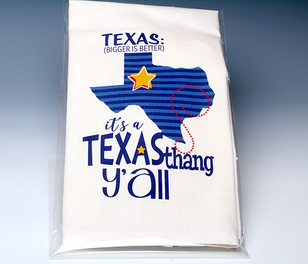 TX Towel<BR><span class=bluebold>(Personalize)