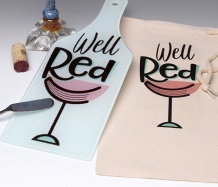 Well Red Cutting Board