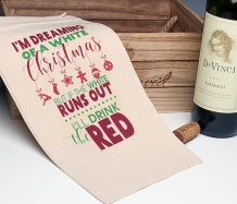 White Xmas Wine Bag