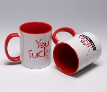 "You Suck ""Love"" Mug"